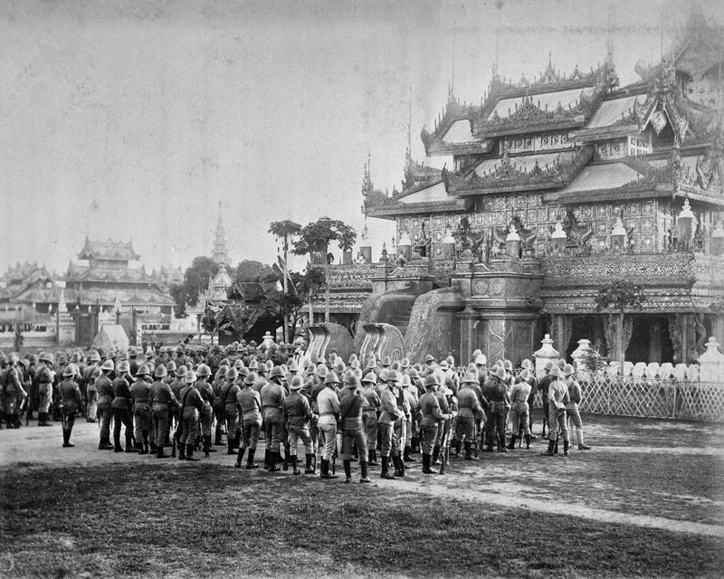 Divine Service at The King's Palace, Mandalay, Burma, 1885