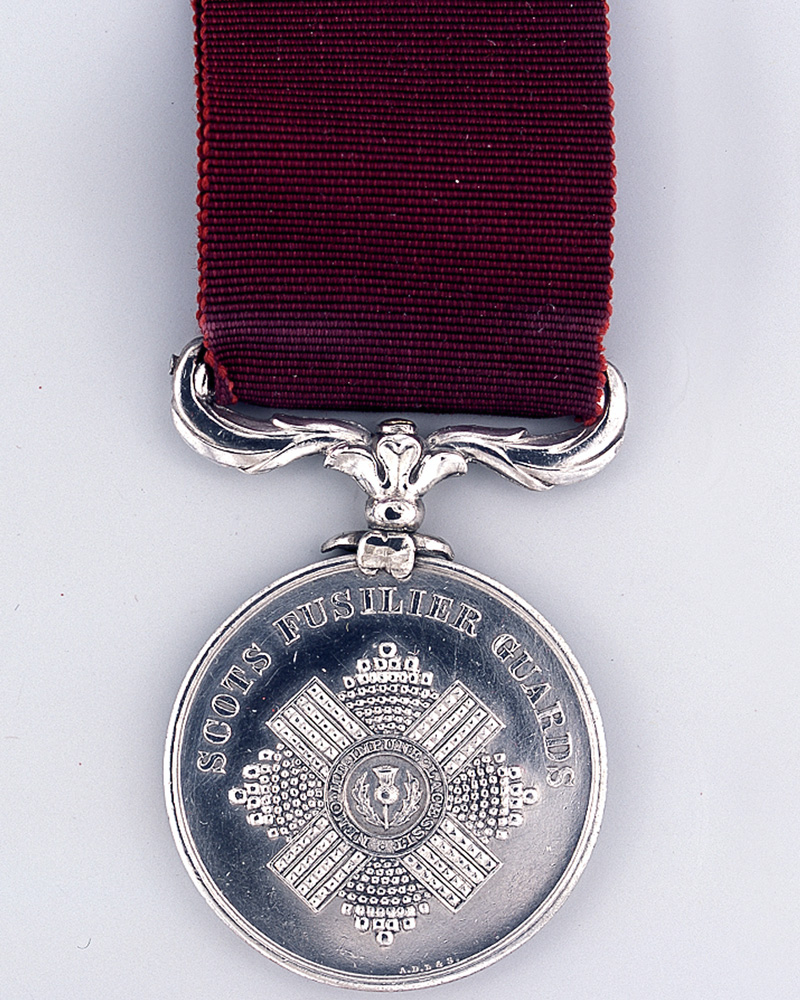Bentinck Medal awarded to Private John Main, Scots Fusilier Guards, 1856
