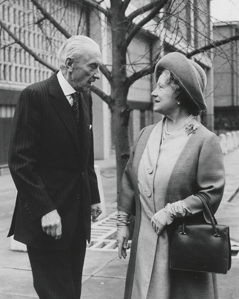 The Queen Mother with Field Marshal Sir Gerald Templer, 1976