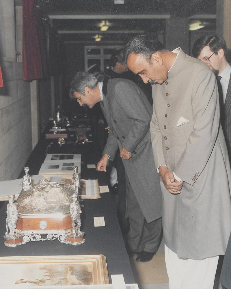 Muhammad Khan Junejo, the prime minister of Pakistan, 1987