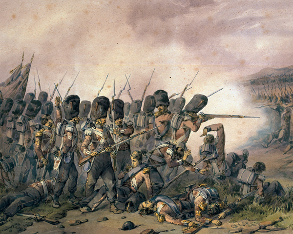 The Coldstream Guards at the Battle of the Alma, 1854