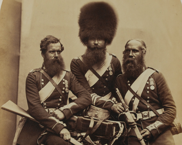 Coldstream Guards veterans of the Crimean War, 1856