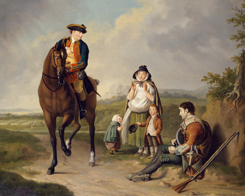 The Marquess of Granby relieving a sick soldier, c1765