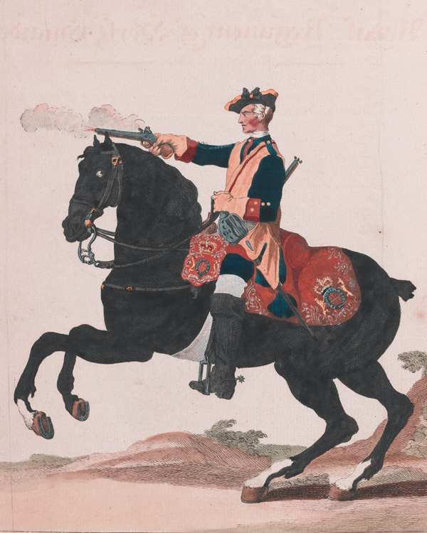 A trooper of The Royal Regiment of Horse Guards, c1745