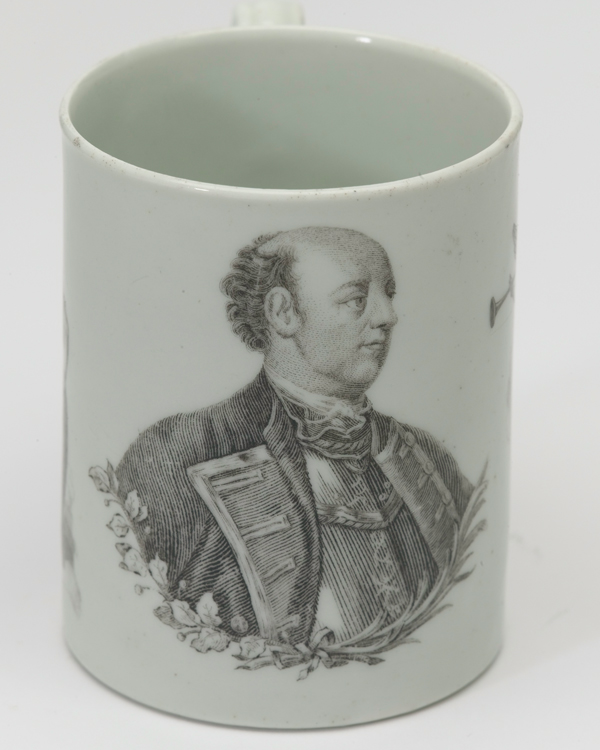 Mug commemorating the Marquess of Granby, c1765