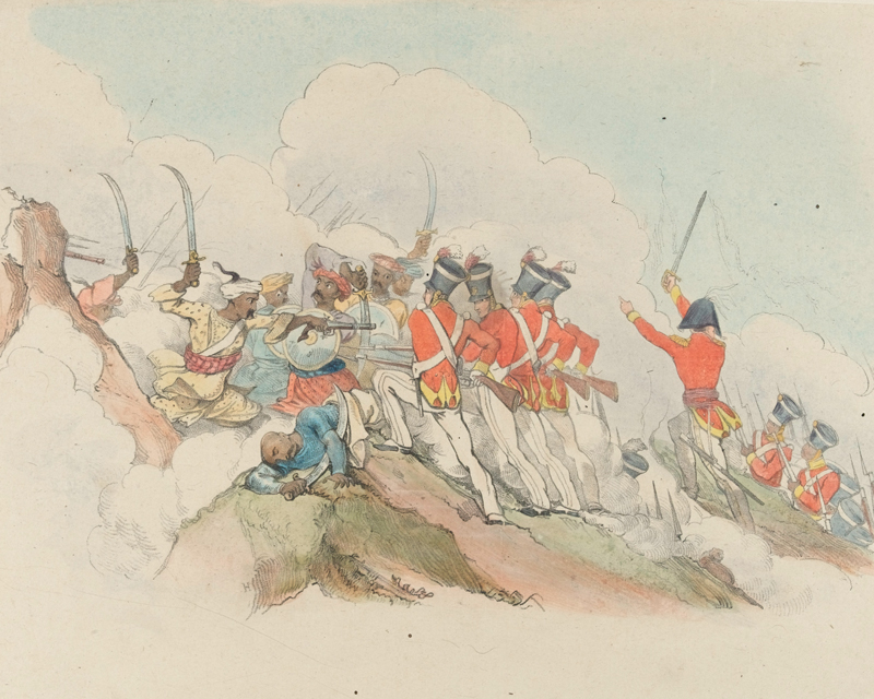 The 59th Regiment storming the breach at Bhurtpore, 1826