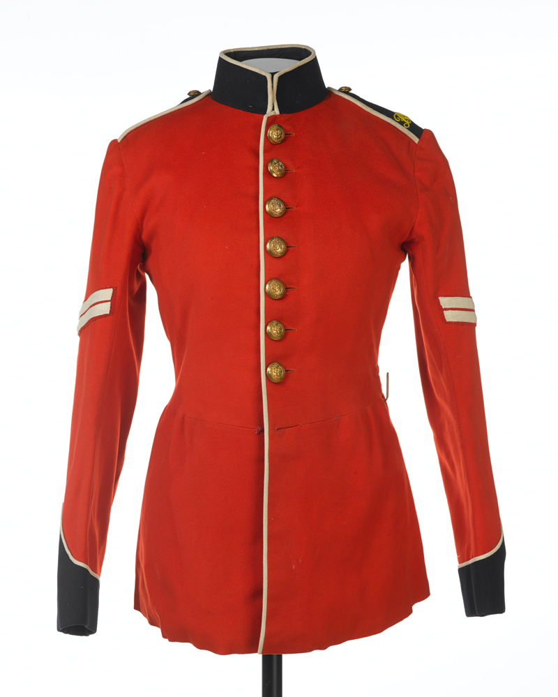Royal Military College Sandhurst tunic worn by Cadet Alan Bowles, 1914