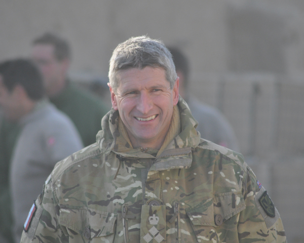 Brigadier James Chiswell, who was a major when he received the MC during Operation Barras, 2010