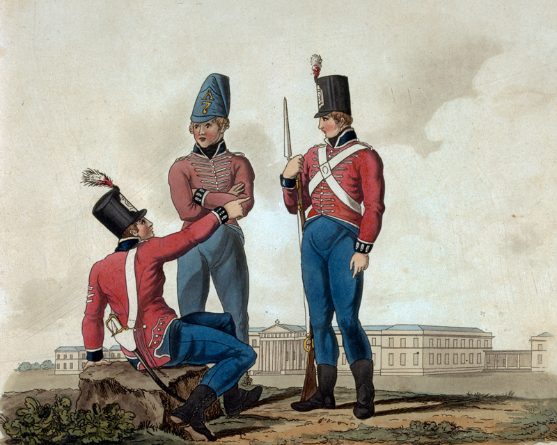 Cadets of the Royal Military College at Sandhurst, Junior Department, 1812