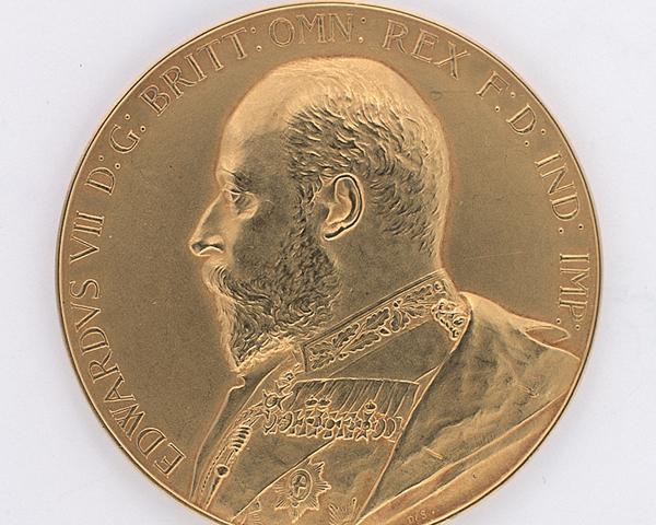 King's Medal, Royal Military College, Sandhurst, awarded to Gentlemen Cadet Hubert Daniell, 1906