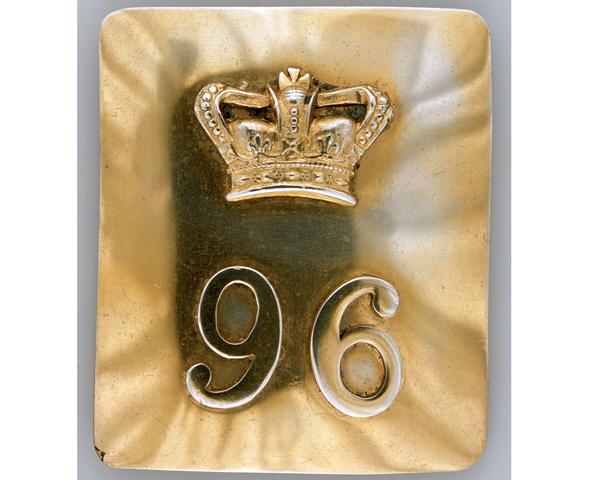 Shoulder belt plate, 96th (Queen's German) Regiment of Foot, 1802