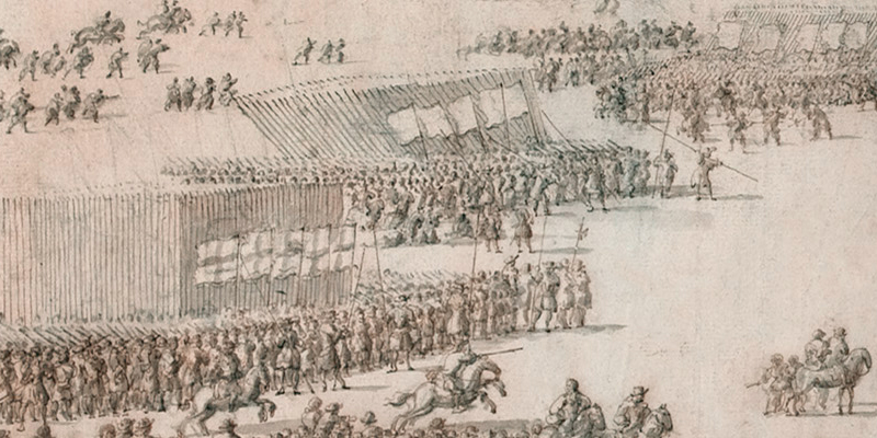 Detail from 'A Grand Review on Hounslow Heath, 1687'