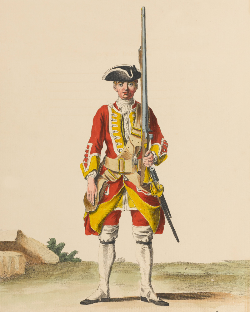 A soldier of the 30th Regiment of Foot, c1742