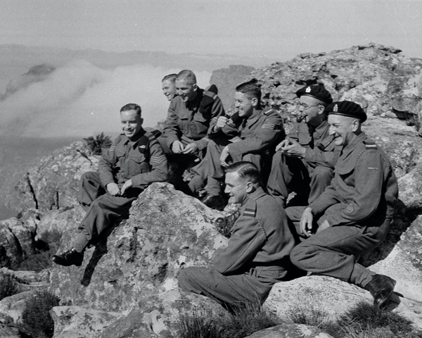 Members of 3rd County of Yeomanry on Table Mountain, 1941