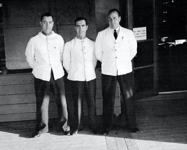Stewards on board HMT 'Orion' en route to Egypt, 1941