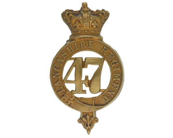 Glengarry badge, 47th (Lancashire) Regiment of Foot, c1874
