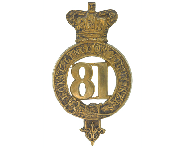 Glengarry badge, other ranks', 81st (Royal Lincoln Volunteers) Regiment of Foot, c1874