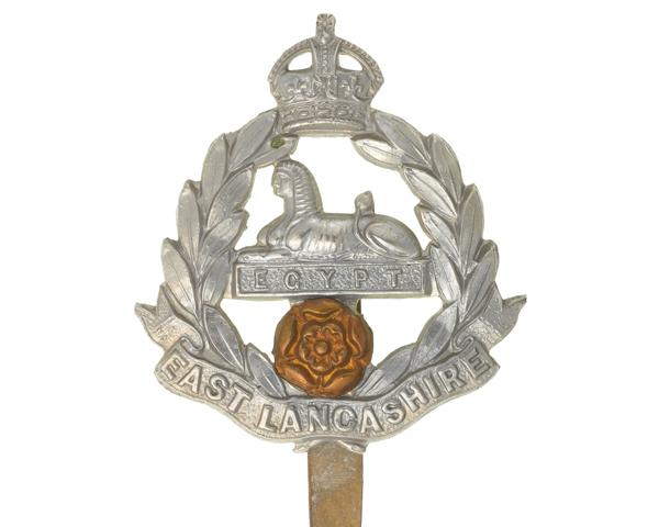 Cap badge, other ranks, The East Lancashire Regiment, c1914
