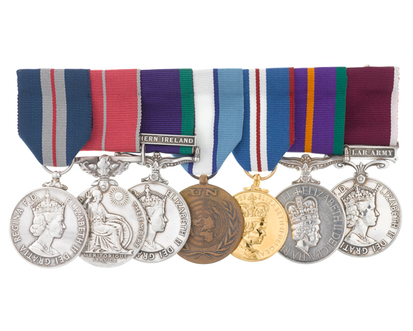 Medals awarded to Sergeant Anthony Haw, 14 Intelligence Company, and The Green Howards, 1969-1989