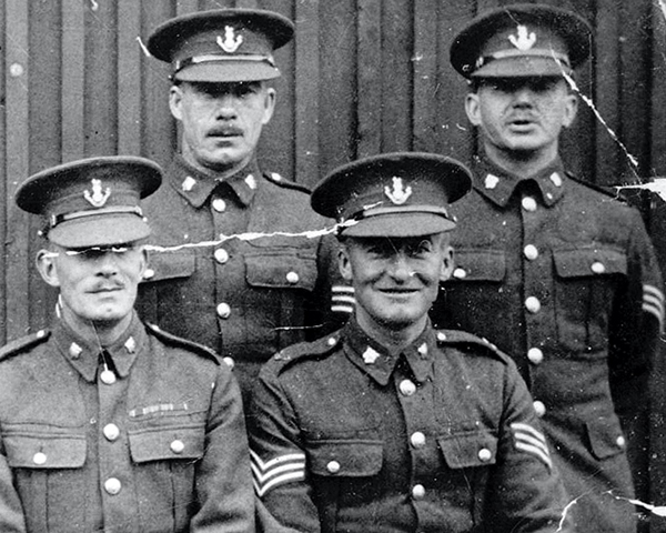 Warrant Officers and NCOs of the 2nd Loyals, c1920