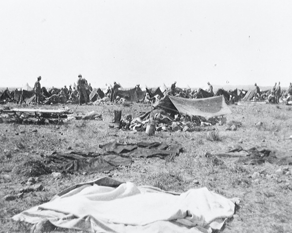 The  East Lancashire Regiment in camp during the South African campaign, c1900