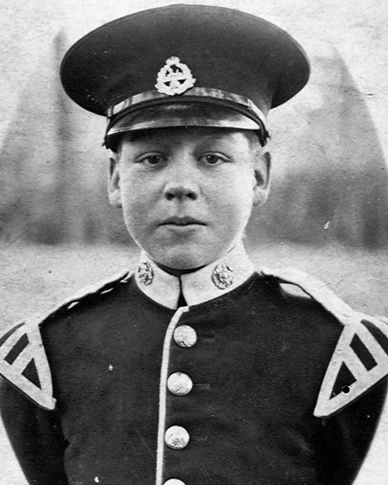 Band Boy Claude Headley, The East Lancashire Regiment, c1920