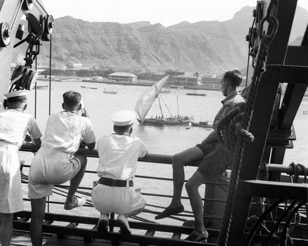 Aden port viewed from HMT 'Orion', 1941