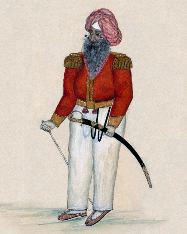 A senior officer of the Khalsa, c1849