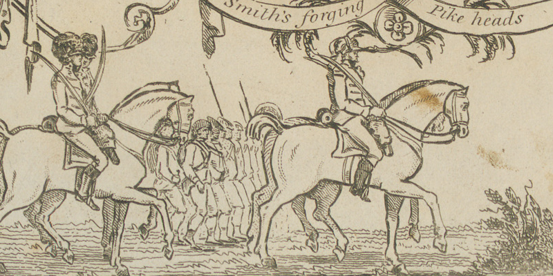 Detail from 'A view of the Engagement at Vinegar Hill, June 21st 1798'