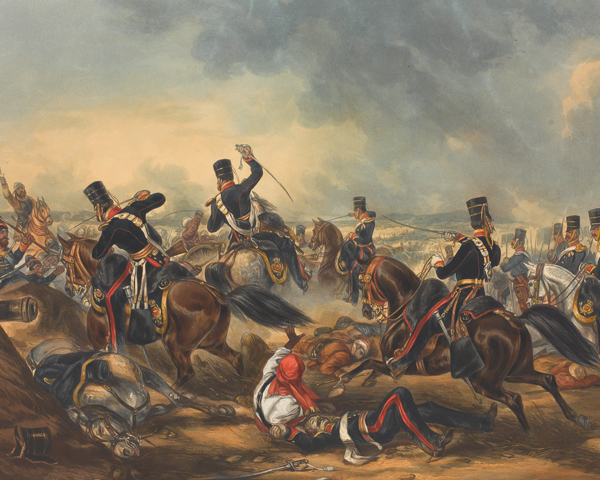 Charge of the 3rd (King's Own) Light Dragoons at the Battle of Ferozeshah, 21 December 1845