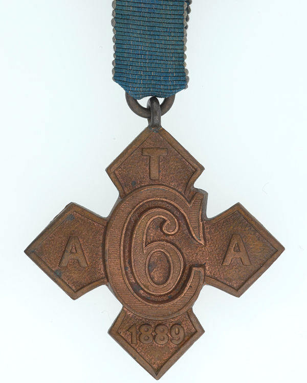 ATA Crookshank Medal for six month's abstinence, 1889