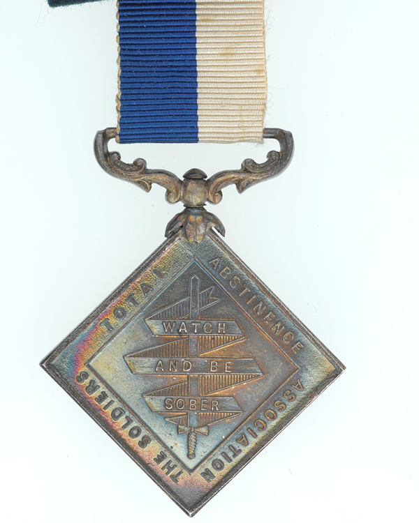 Soldiers' Total Abstinence Association India, 'Beatty Star' Medal, c1867