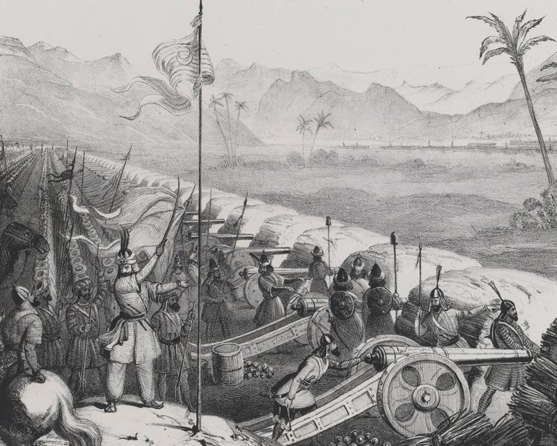 Sikh artillery at Ferozeshah, 1845