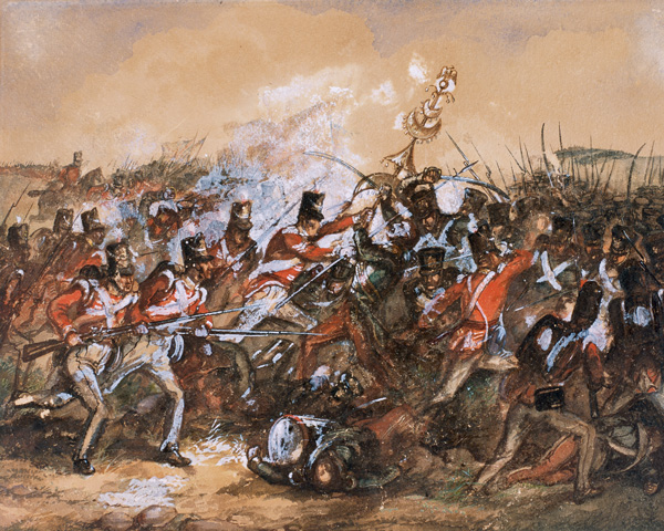 The capture of the 'Jingling Johnny' by the 88th Regiment of Foot at the Battle of Salamanca, 1812