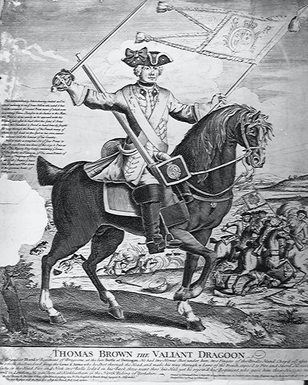 'Thomas Brown the Valiant Dragoon', 1743