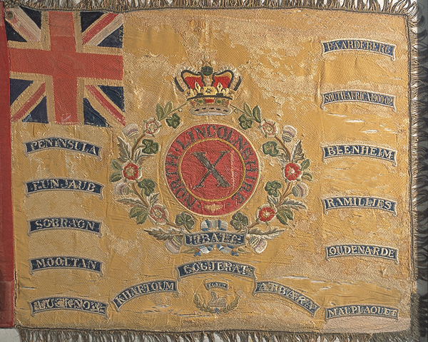 Regimental Colour, 2nd Battalion, 10th (The North Lincolnshire) Regiment of Foot, 1859
