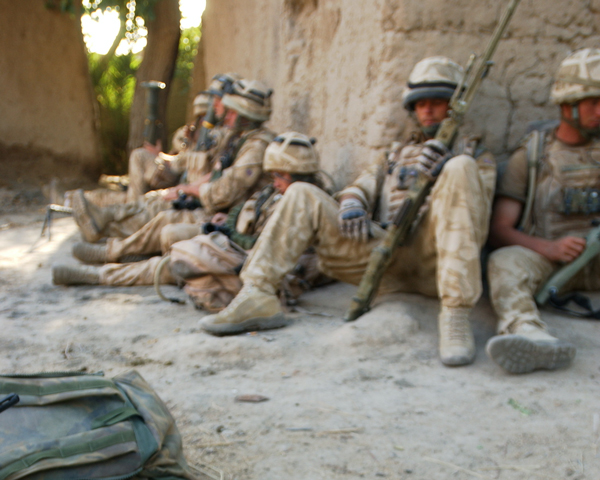 Soldiers of 1st Battalion The Royal Welsh in Helmand, 2007