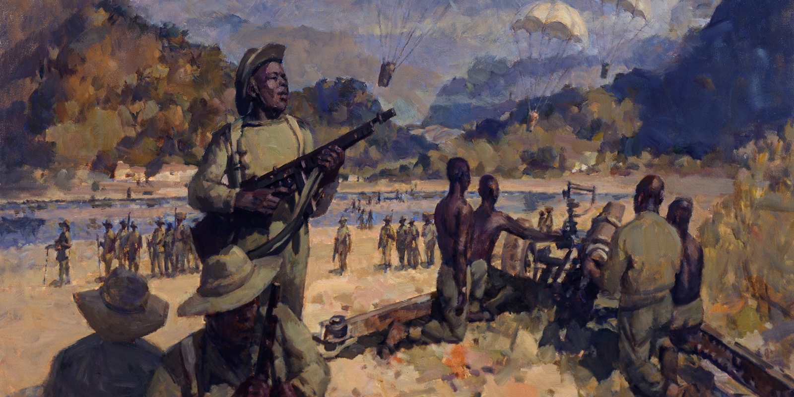 Troops of the Royal West African Frontier Force in the Arakan, Burma, c1944