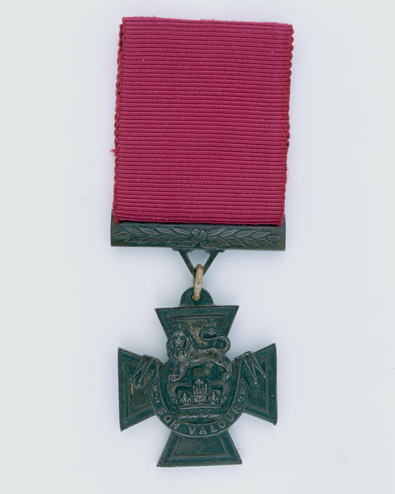 The original VC awarded to Private Francis Fitzpatrick for his braveryin 1879