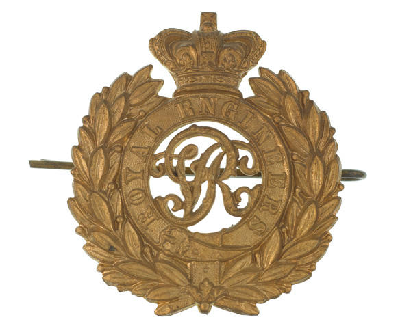 Cap badge, Royal Engineers, c1900