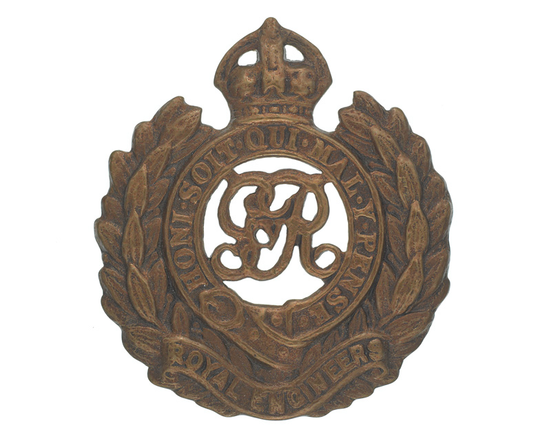Cap badge, Royal Engineers, c1914