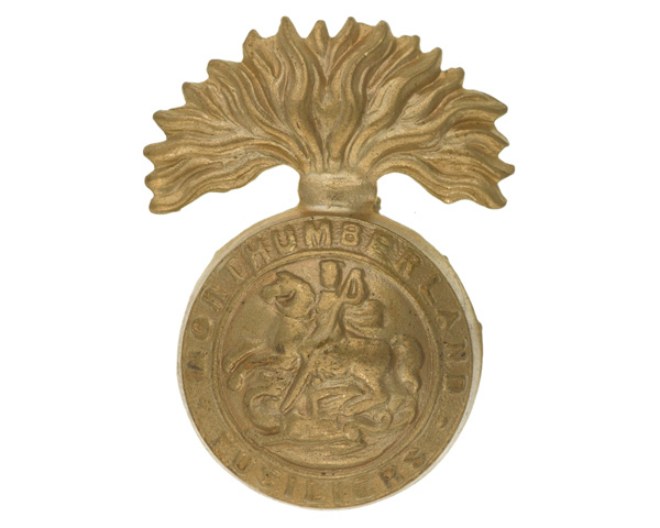 Cap badge, The Northumberland Fusiliers, c1920