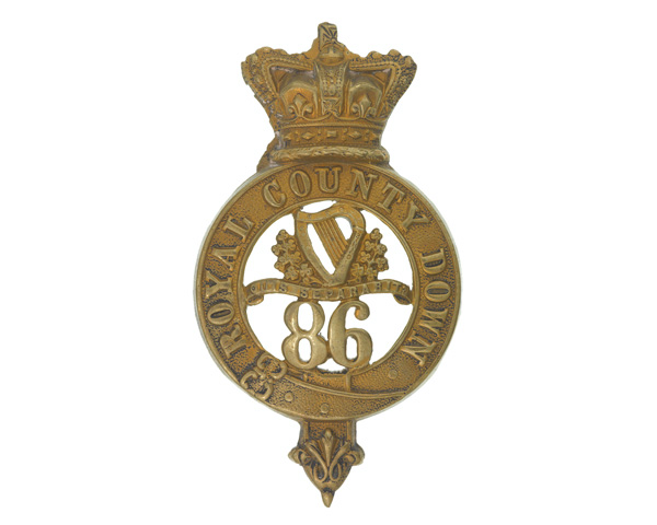 Glengarry badge, other ranks, 86th (Royal County Down) Regiment of Foot, 1874-1881