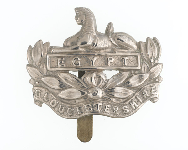 Cap badge, Gloucestershire Regiment, 1914-1918