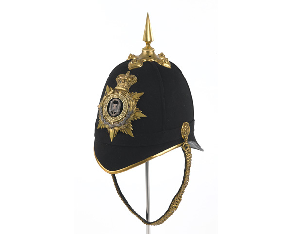 Officer's helmet, Northamptonshire Regiment, 1881-1902