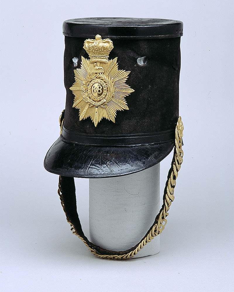 Shako of Lieutenant-Colonel (later General) Edmund Richard Jeffreys, 88th Regiment of Foot (Connaught Rangers)