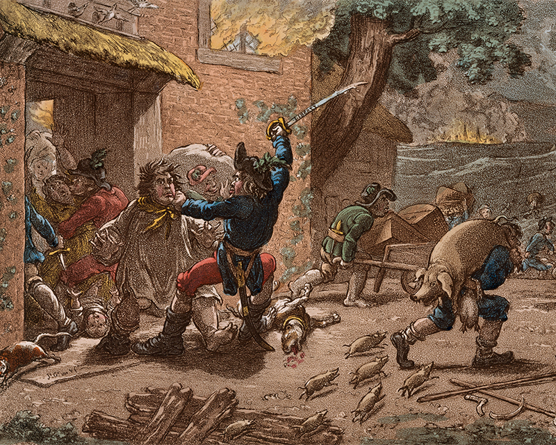Caricature entitled'United Irishmen upon Duty', 1798
