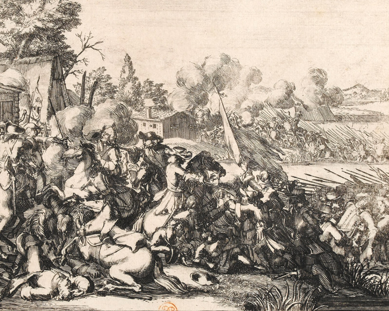 The Duke of Schomberg and Doctor Walker killed while crossing the Boyne