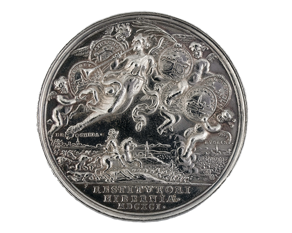 Silver medal commemorating the Pacification of Ireland, 1691