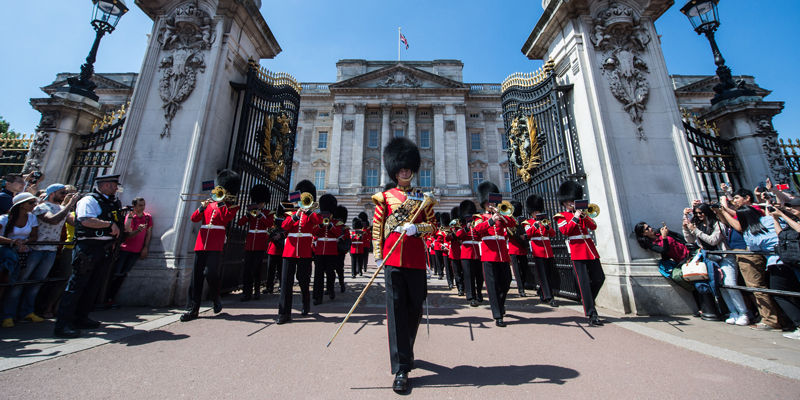 The Band of the Grenadier Guards at Buckingham Palace